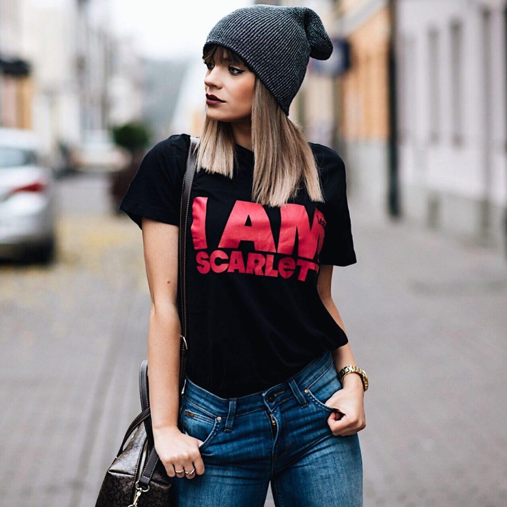 T-shirt damski Lee czarny