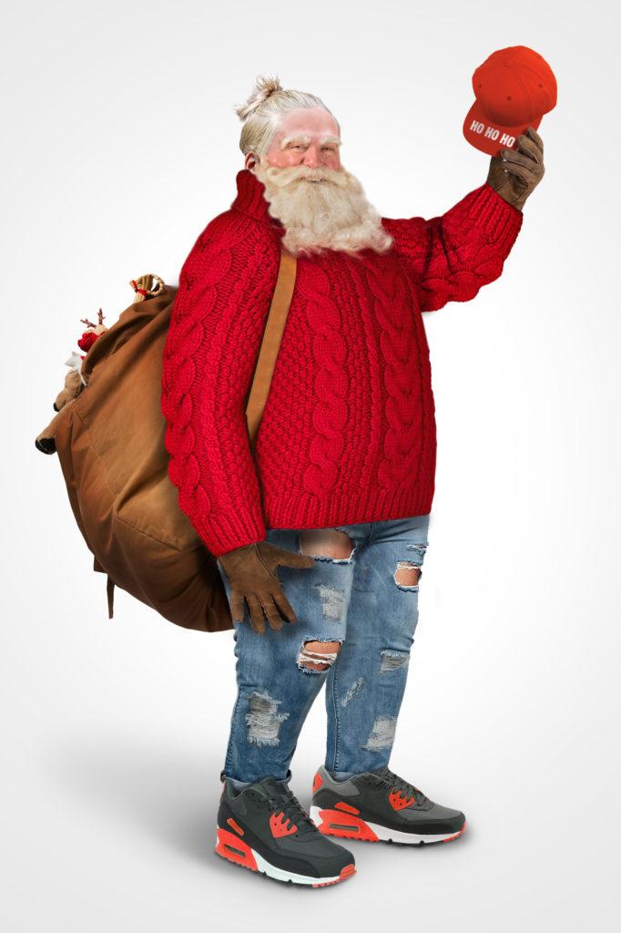 Święty Mikołaj w jeansach