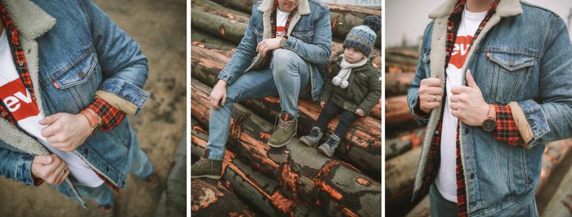 Kurtka męska jeansowa Sherpa Trucker Levis