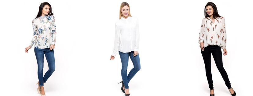 Eleganckie stylizacje jeansowe Damskie