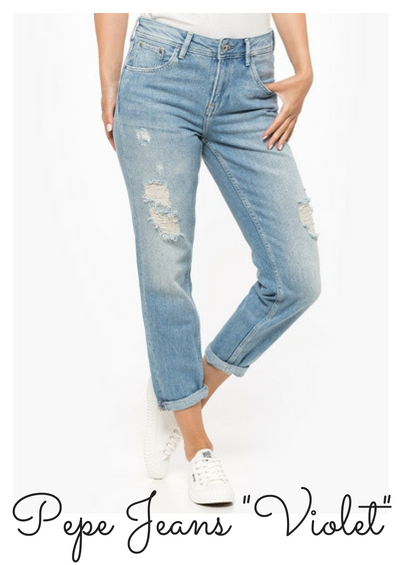 jak dobrać spodnie do figury pepe jeans violet