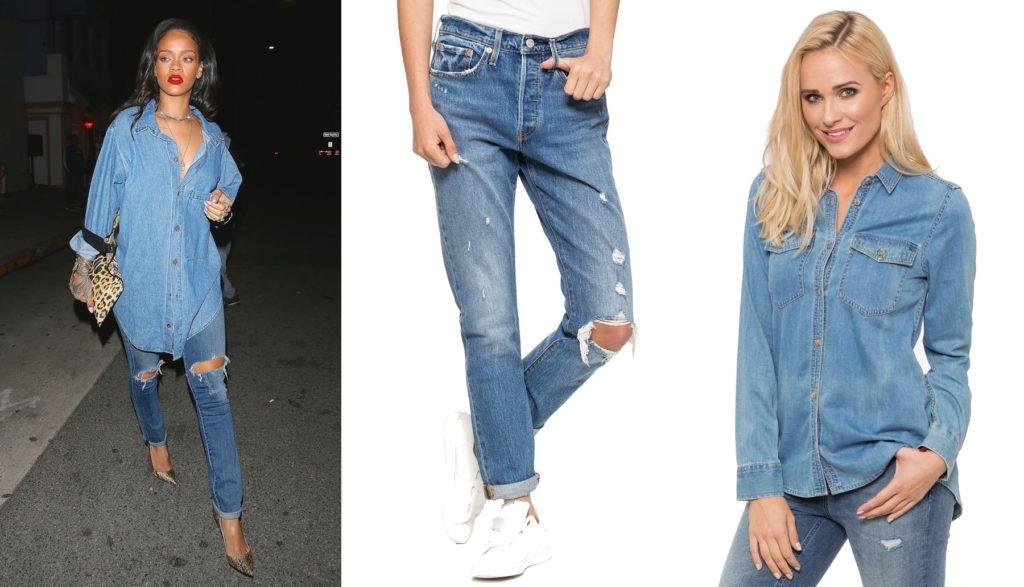 Jeansowy Total Look — Spodnie Jeansowe Levi's 501 i Koszula Jeansowa Tommy Jeans