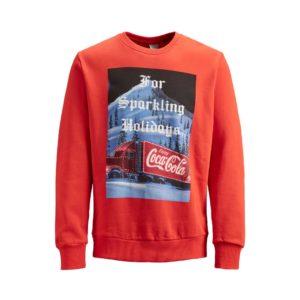 Jack & Jones Kolekcja świąteczna Bluza Coca Cola
