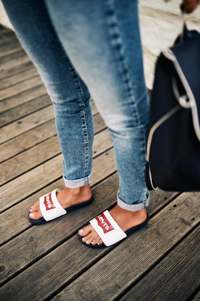 Damskie Spodnie Jeansowe Levi's Skinny