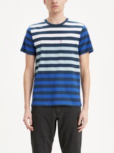 T-shirt Męski Paski Levi's Bluestilo.com