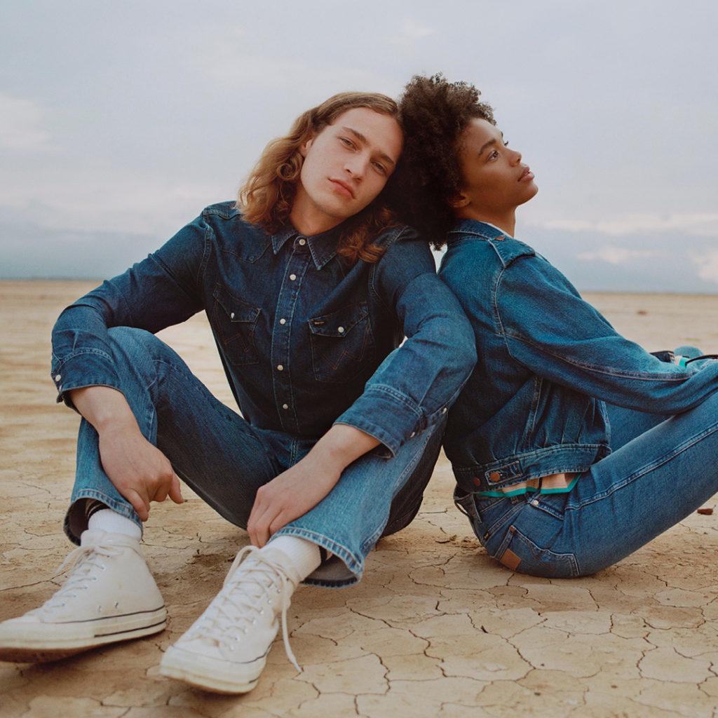 Denim Total Look Spodnie Jeansowe Koszula Jeansowa Wrangler