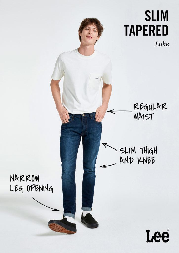 Męskie Spodnie Jeansowe Lee Luke