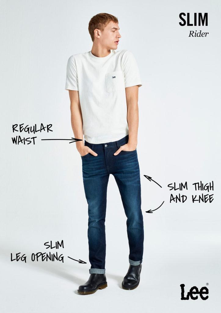 Męskie Spodnie Jeansowe Lee Rider