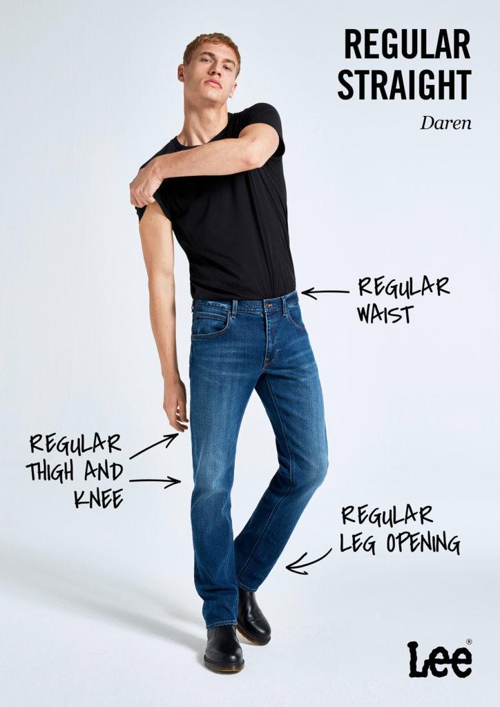 Męskie Spodnie Jeansowe Lee Daren