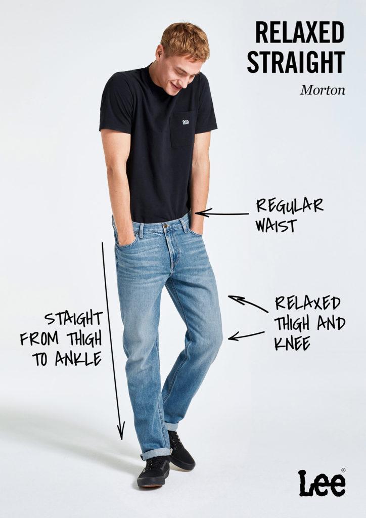 Męskie Spodnie Jeansowe Lee Morton