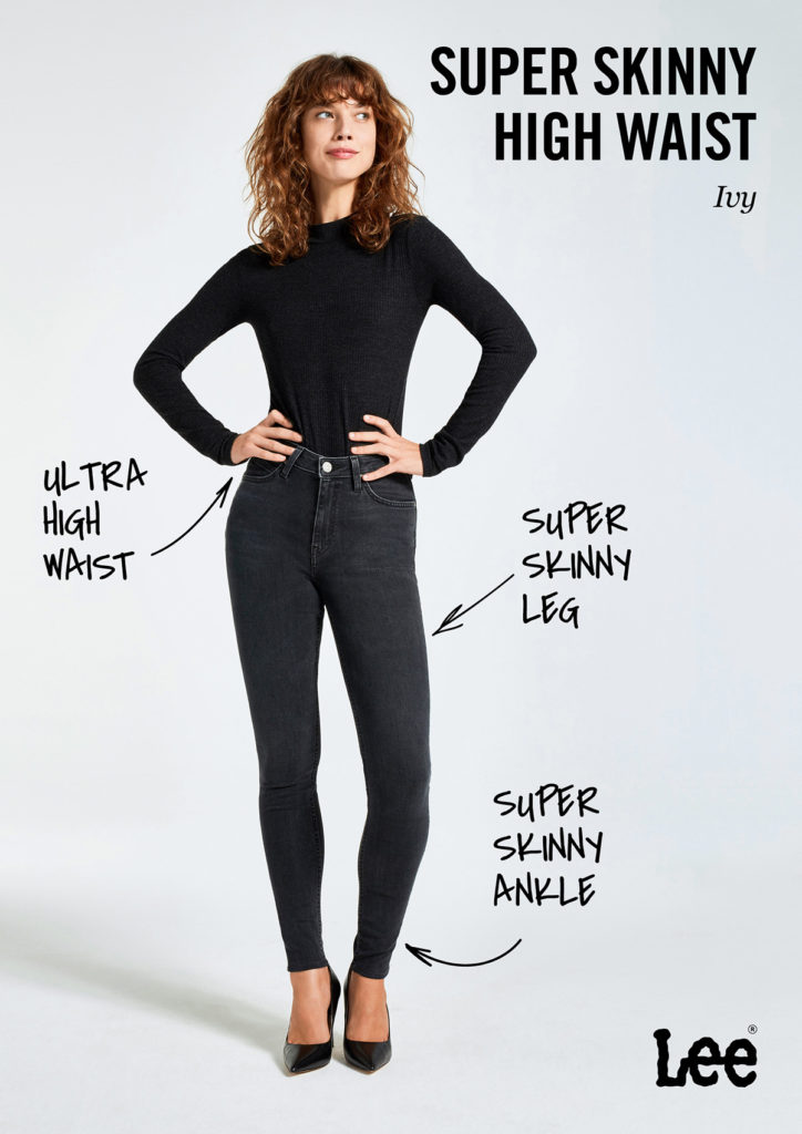 Damskie Spodnie Jeansowe Lee Ivy