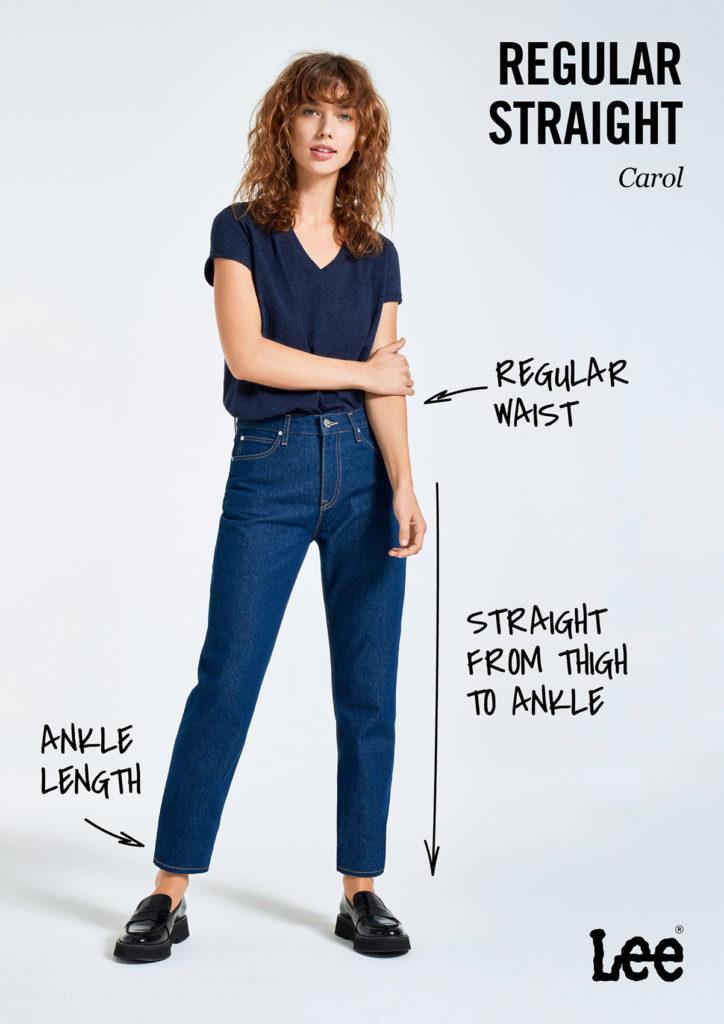 Damskie Spodnie Jeansowe Lee Carol