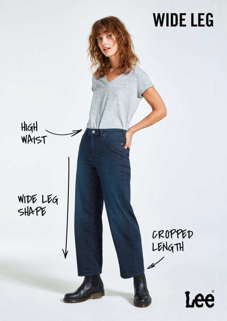 Damskie Spodnie Jeansowe Lee Wide Leg