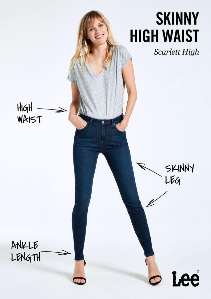 Damskie Spodnie Jeansowe Lee Scarlett High